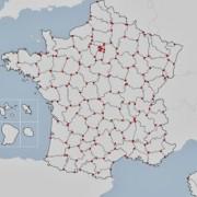 topologie France : points nœuds pour les départements
