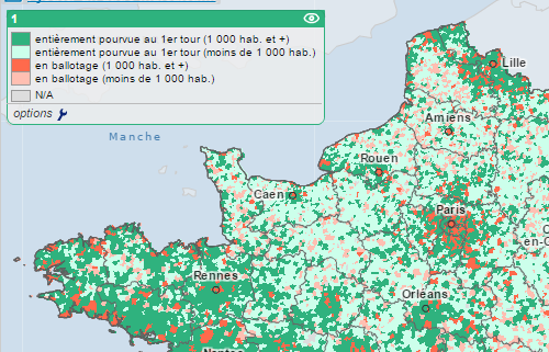 cartes des élections municipales de 2014 en France