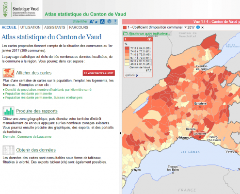 Atlas statistique du Canton de Vaud (Suisse) : version O3