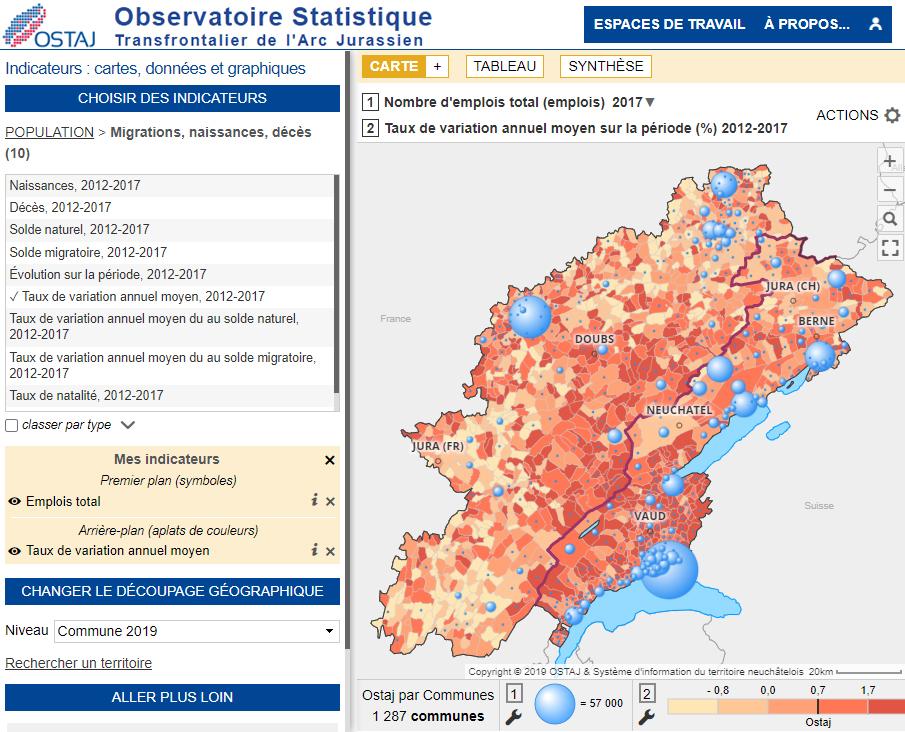 Observatoire Statistique Transfrontalier de l'Arc Jurassien - Emploi