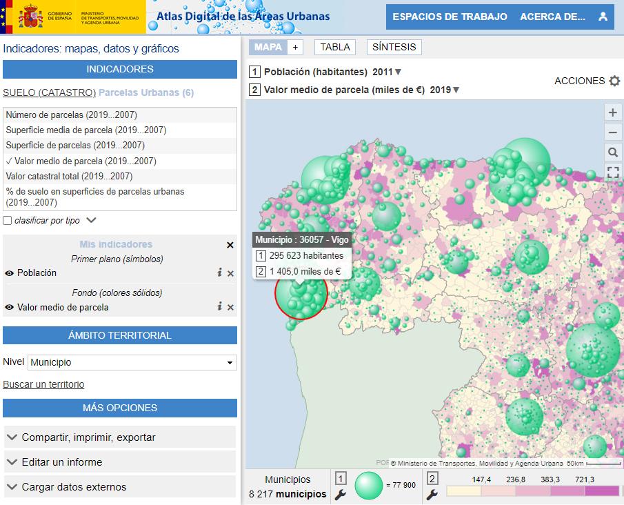 Atlas Digital de las Áreas Urbanas - Parcelles