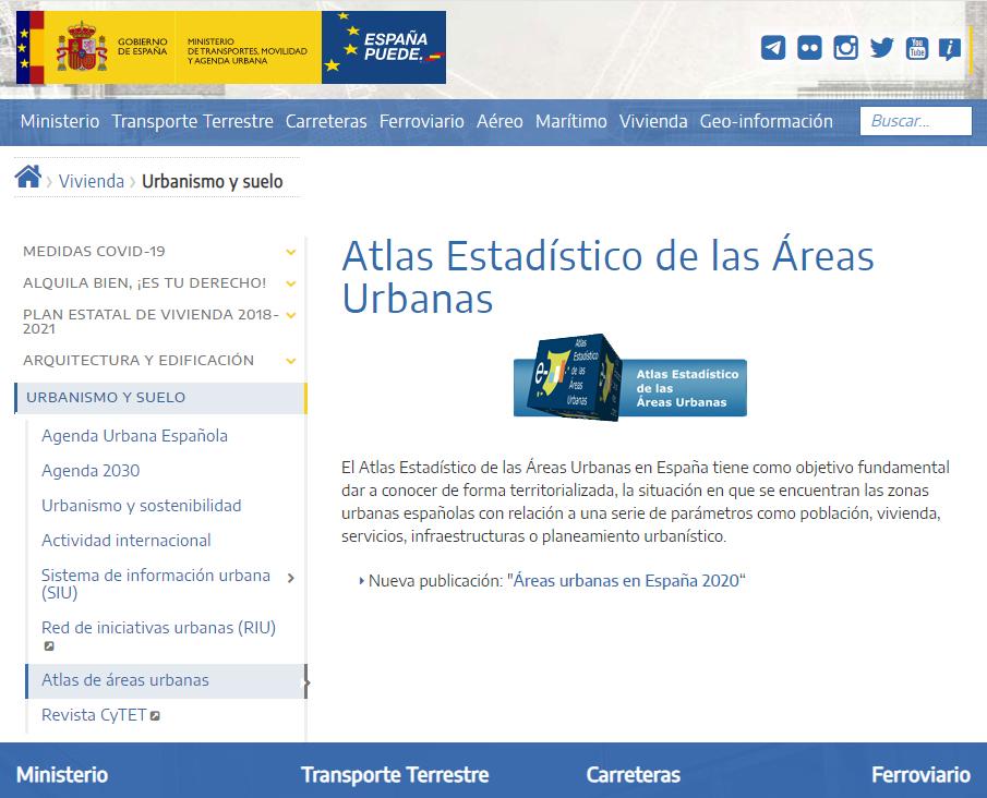 Atlas Digital de las Áreas Urbanas - Site web