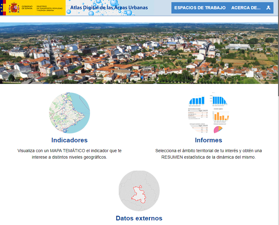 Atlas Digital de las Áreas Urbanas - Page d'accueil