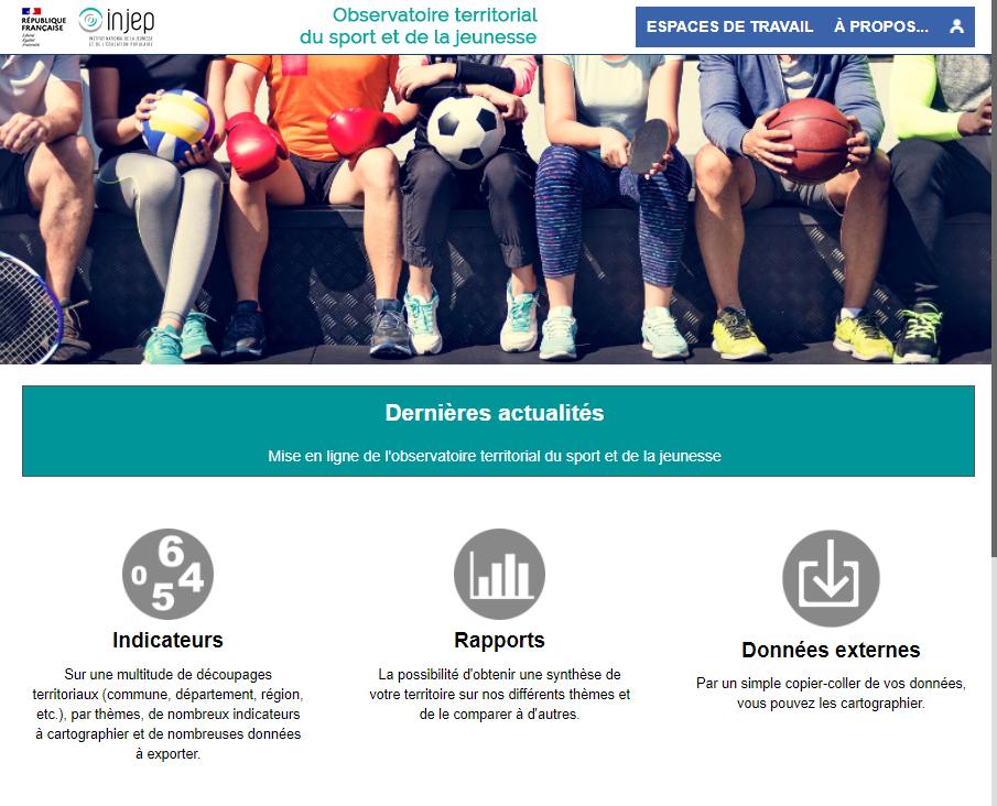 Observatoire territorial du sport (INJEP) - Accueil