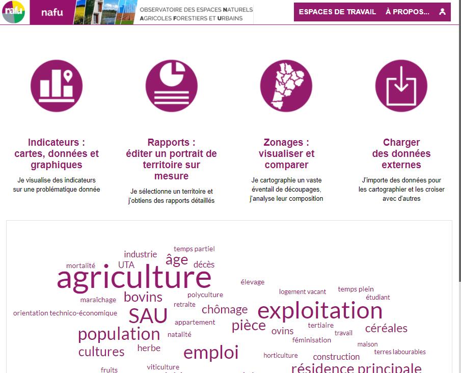 Observatoire des espaces naturels agricoles, forestiers et urbains (NAFU) - Page d'accueil