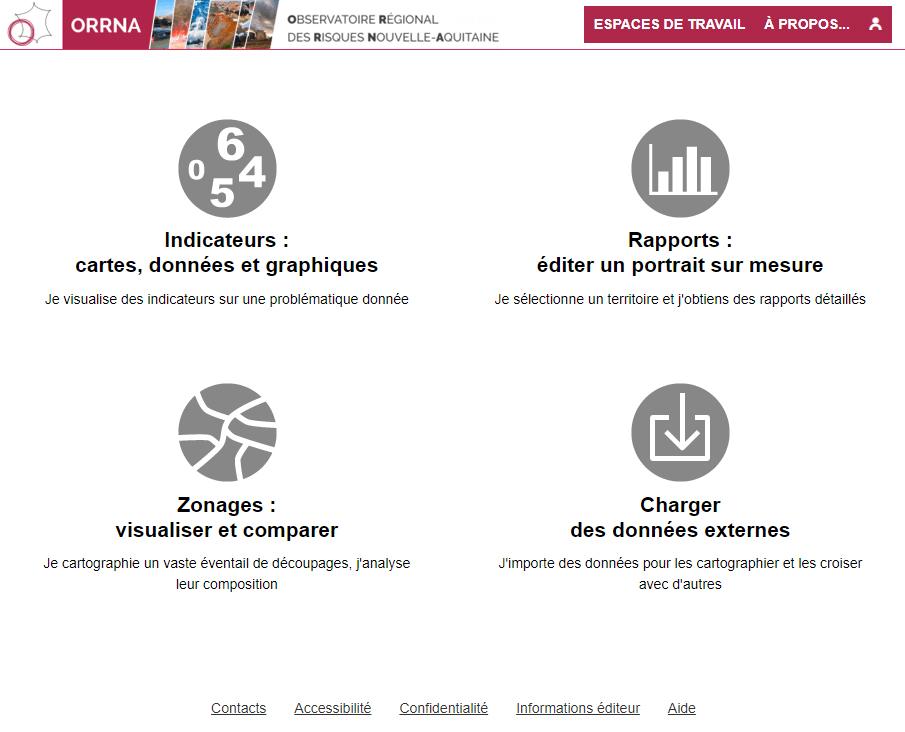 Observatoire Régional des Risques Nouvelle-Aquitaine (ORRNA) - Page d'accueil