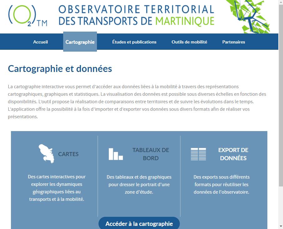 Observatoire Territorial des Transports de Martinique - Site web