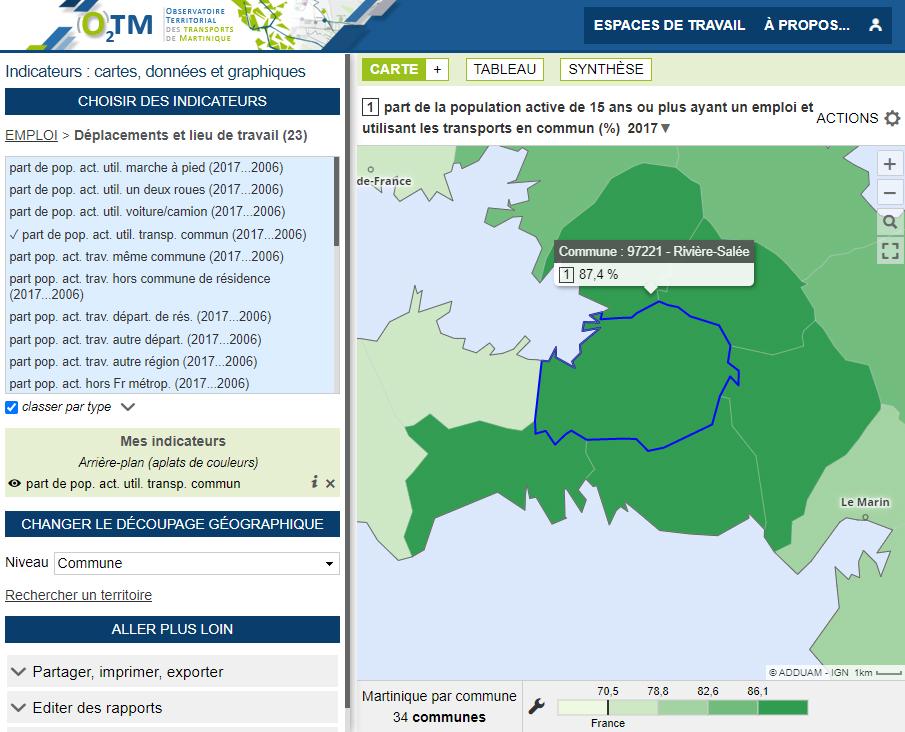 Observatoire Territorial des Transports de Martinique - Transports en commun