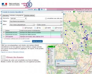 cartographie interactive académie Amiens