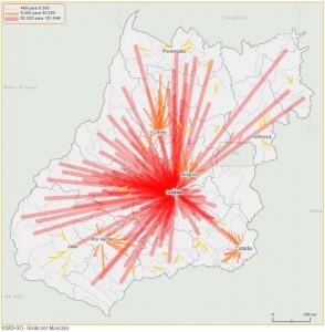 flux mapa de saùde goias