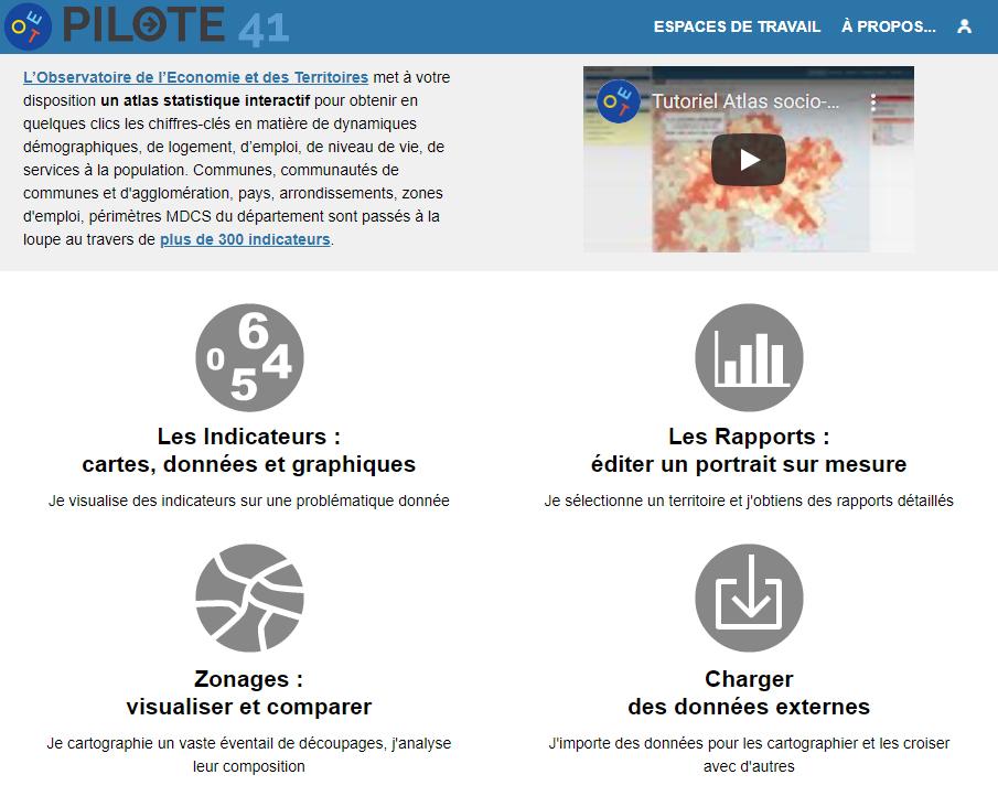 Atlas socio-économique du Loir-et-Cher - Page d'accueil