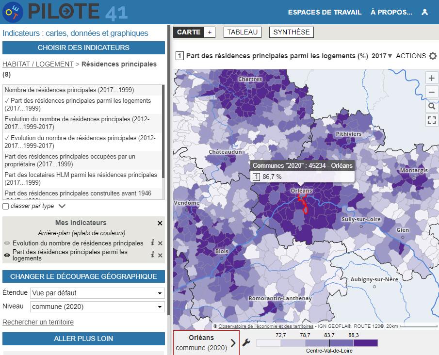 Atlas socio-économique du Loir-et-Cher - Résidences principales