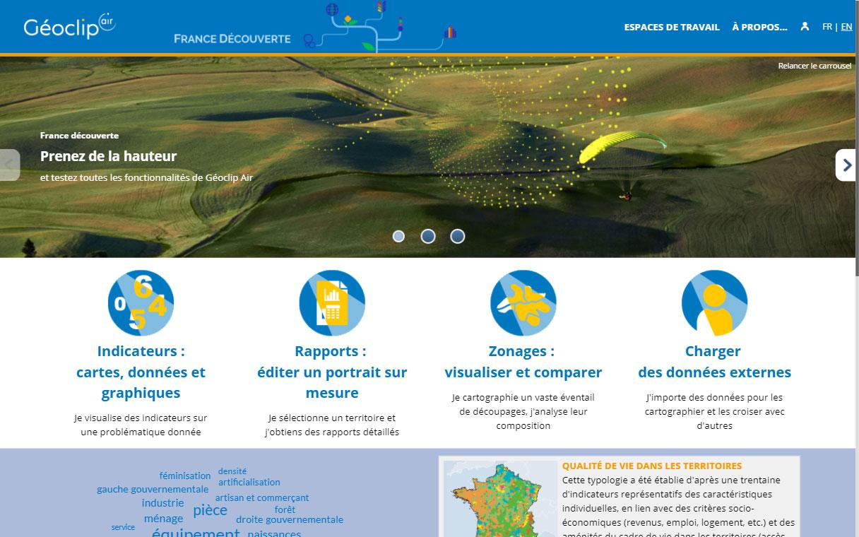 page d'accueil observatoire France découverte