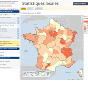 Insee Statistiques Locales cartographie d'indicateurs