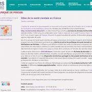 atlas santé mentale : Irdes