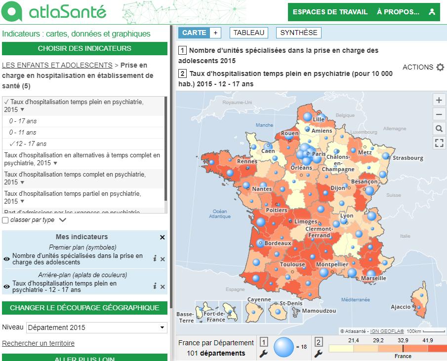 Atlas de la santé mentale en France - Psychiatres libéraux