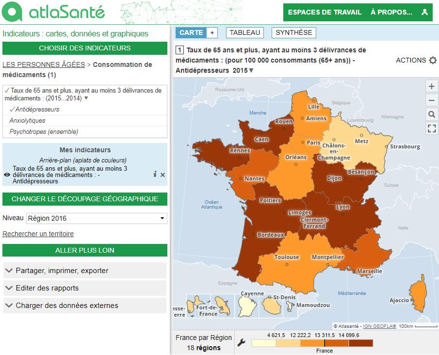 Atlas de la santé mentale en France - Médicaments