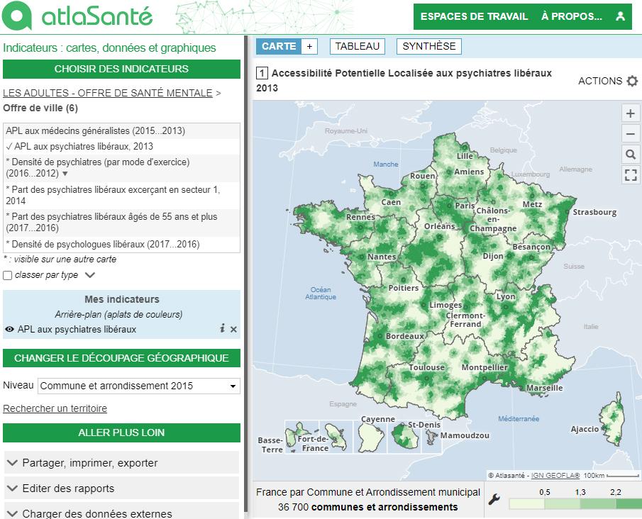 Atlas de la santé mentale en France - Adolescents