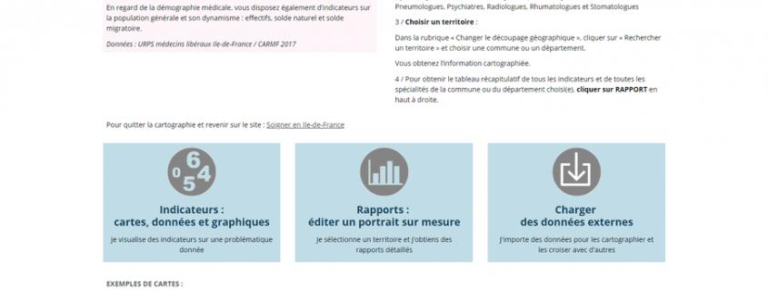 Soigner en Île-de-France : page d'accueil