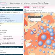 Soigner en Île-de-France : cartographie interactive