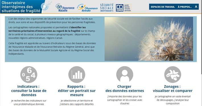 Page d'accueil Observatoire Carsats