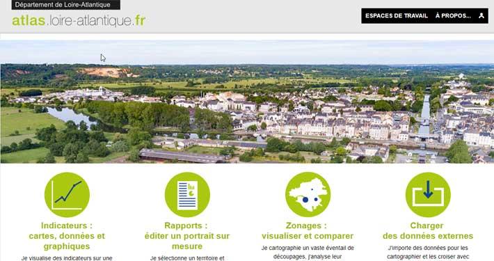 Page d'accueil atlas Loire-Atlantique