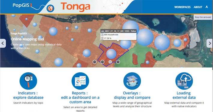 Page d'accueil PopGis Tonga