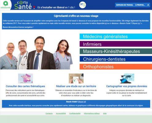 CartoSanté : page d'accueil