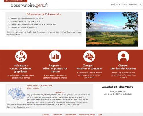 Observatoire des territoires gersois : page d'accueil