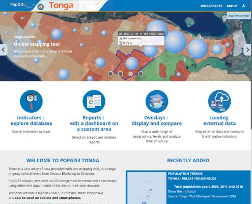 PopGis3 Tonga accueil