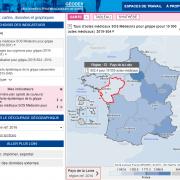 SPF Géodes : carte