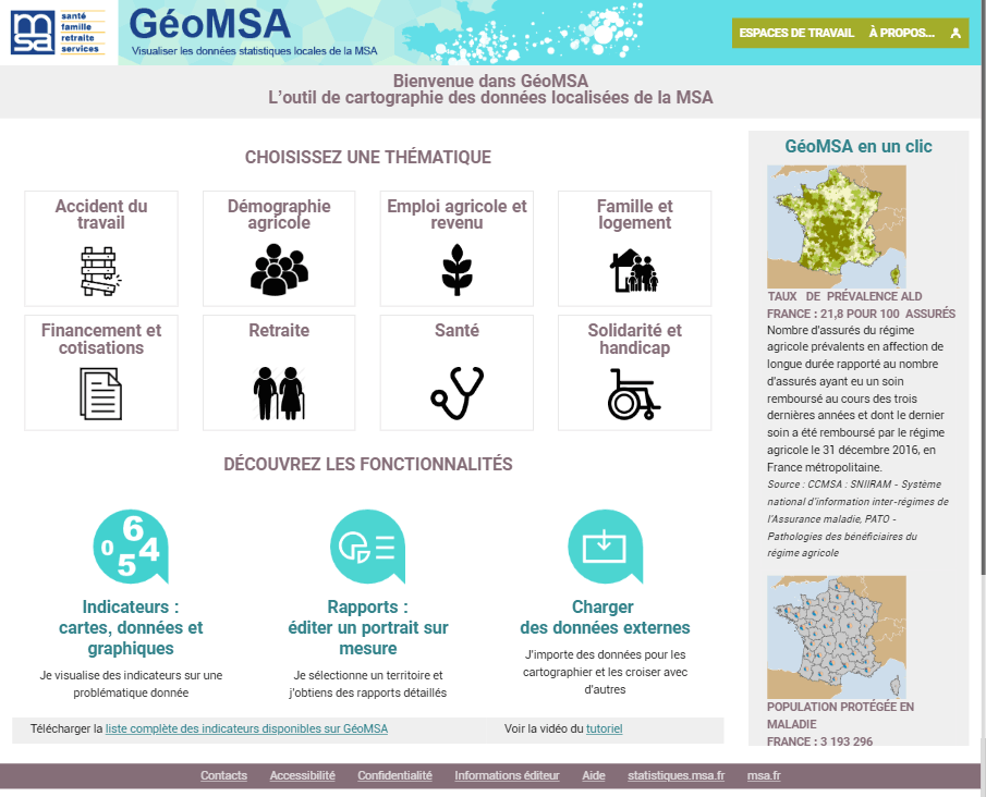 GeoMSA, the Local Data Mapping Tool of the MSA - Cartographie ... on