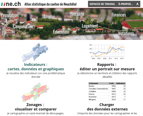 Statistical Atlas of the Neuchâtel Canton