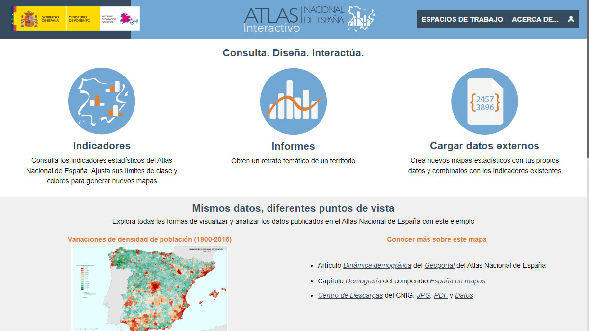 Atlas Interactivo de Espana: home page