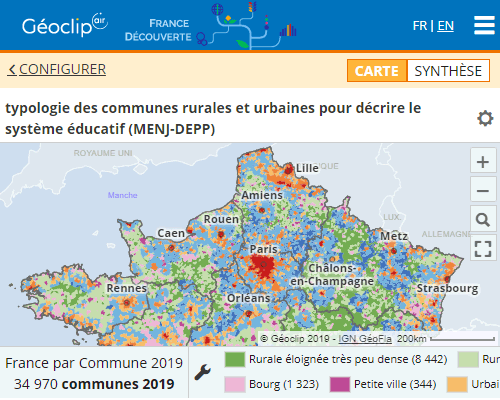 Typology for the education system in France découverte