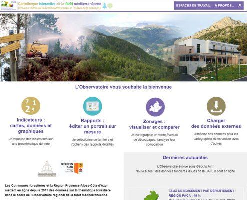 Page d'accueil de la cartothèque interactive de l'OFME