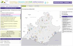 Cartothèque OFME : entreprises certifiées PEFC