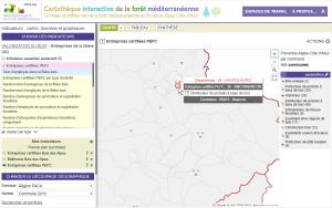 Cartothèque OFME : entreprises certifiées PEFC - zoom
