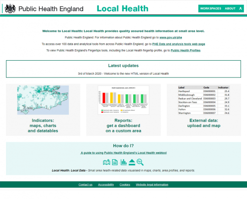 PHE Local Health : accueil