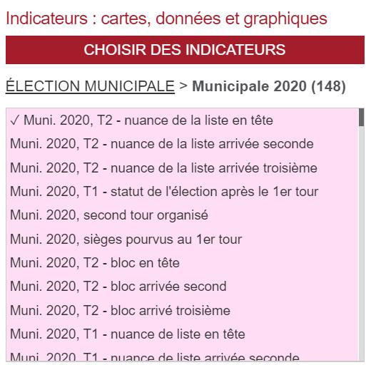 Géoclip Observatoire des Votes en France municipales 2020