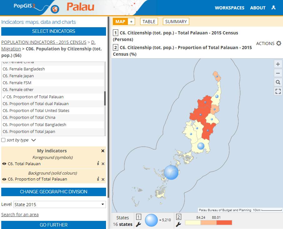 Atlas of the Palau State (PopGIS) - Citizenship