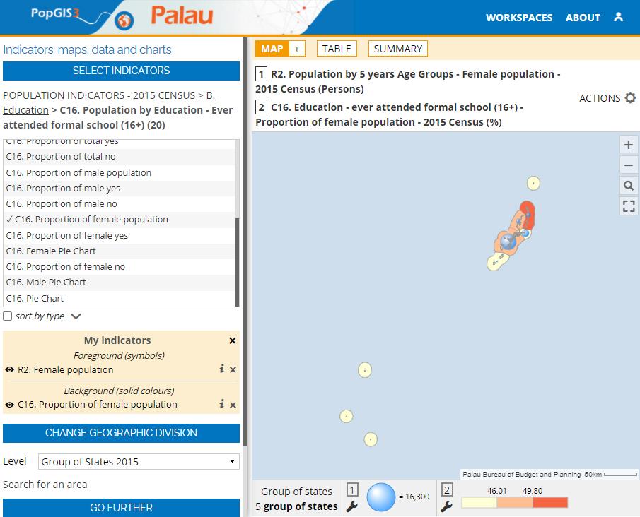Atlas of the Palau State (PopGIS) - Education