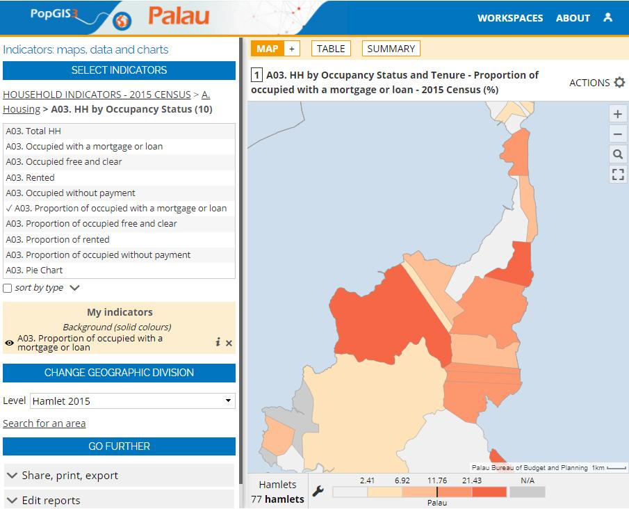 Atlas of the Palau State (PopGIS) - Housing