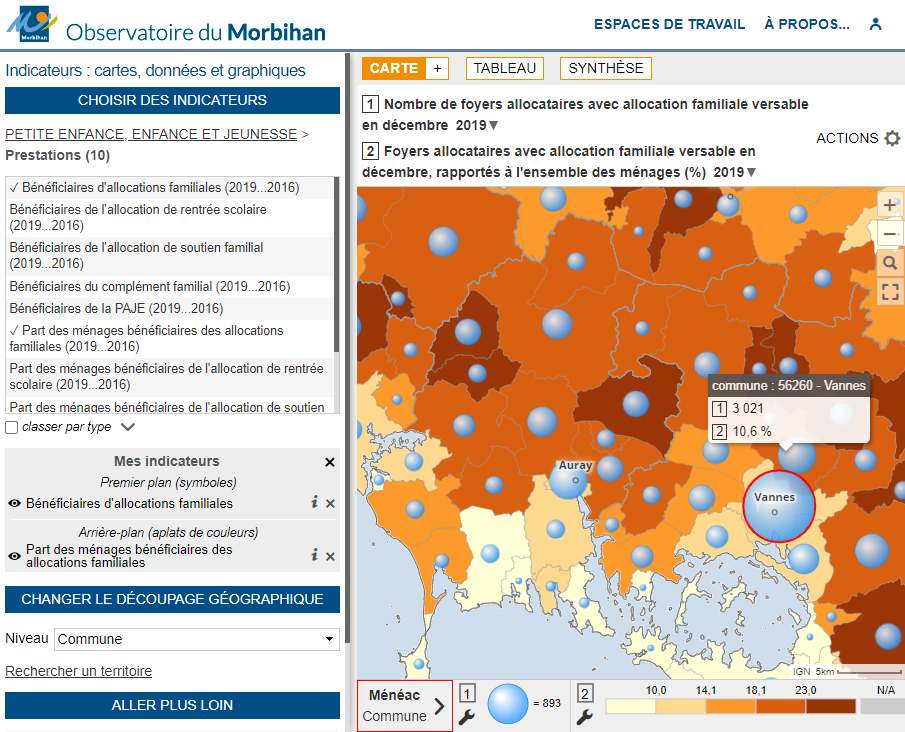 Observatoire du département du Morbihan - Allocations familiales