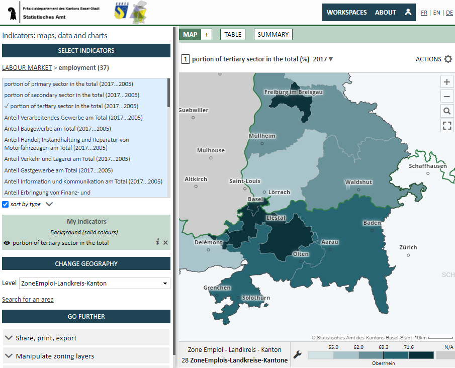 Labour market Observatory - Tertiary sector