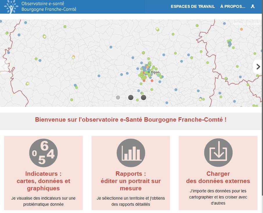 Observatoire e-santé du GRADeS Bourgogne-Franche-Comté - Page d'accueil