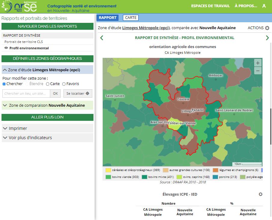 Observatoire Régional Santé Environnement - Rapport sur l'environnement