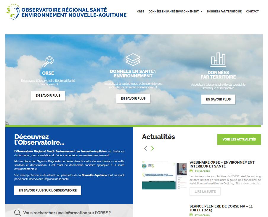 Observatoire Régional Santé Environnement - Site web