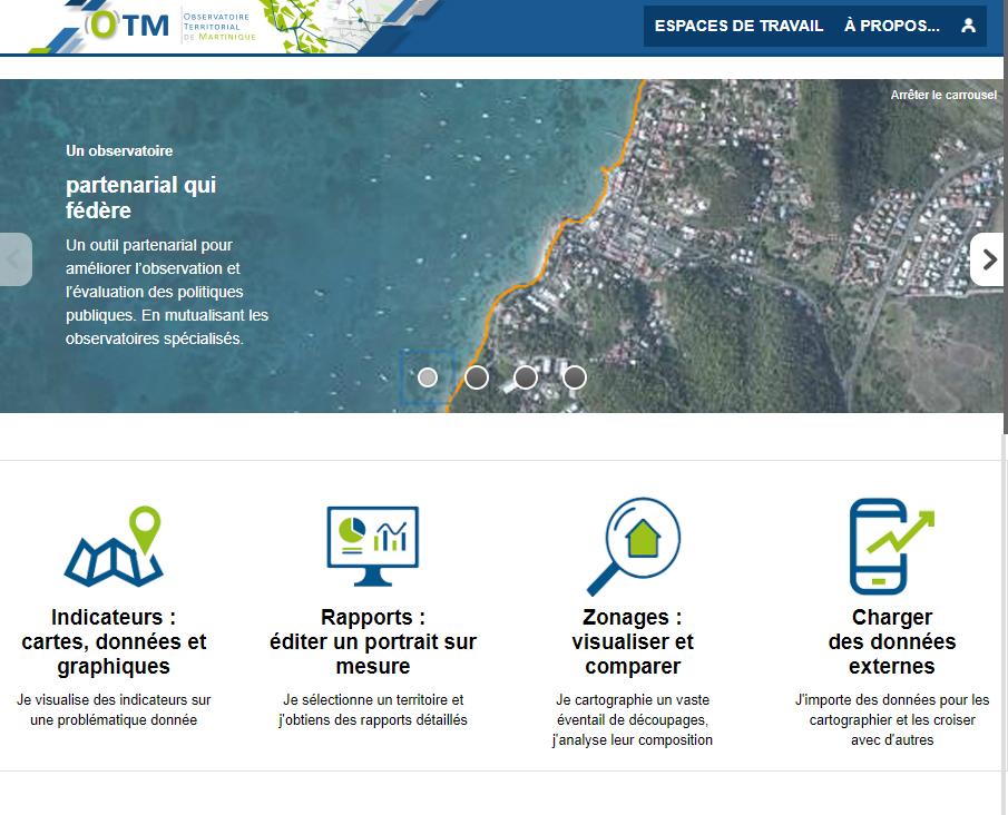 Observatoire Territorial de Martinique - Accueil